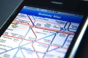 Tube map on an iPhone